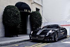 Ferrari.  BLACK.  Stunning.