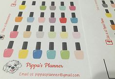 NAIL POLISH Planner Stickers - Erin Condren _ MAMBI Planner Stickers by PippasPlanner on Etsy