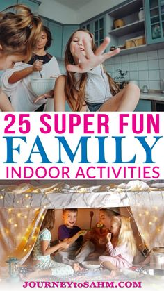 25 Super Fun Activities to Do as a Family at Home! It's easy to get stuck in a rut when you're home for weeks on end. Staying inside can be a challenge with young children, that's why these family activities to do with your kids at home comes in handy. Kids get bored and constantly want something new. Turns out you can put together something easy for them to do to last them hours and spend quality time with the family at the same time. | @journeytoSAHM #inddorfunforkids #familyactivities Educational Activities For Toddlers, Fun Activities To Do, Games For Toddlers, Parenting Toddlers, Family Activities, Parenting Hacks, Baking With Toddlers, Old Halloween Costumes, Easy Science Experiments