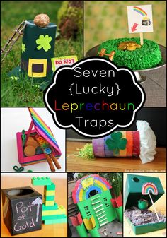leprechaun traps  St. Patrick's Day crafts for kids