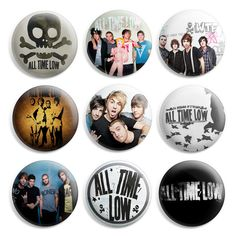 All Time Low Pinback Button Pin Badge (Pack of 9)- 1 inch