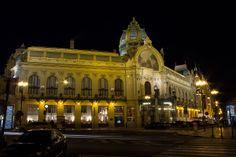 Municipal Hall - At night. Scion, Creative Photos, Prague, Travel Around, San Francisco Ferry, Beautiful Places, Landscape, Building, Night