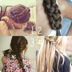 must love braids great hair hair ? My Hairstyle, Pretty Hairstyles, Girl Hairstyles, Braided Hairstyles, Fashion Hairstyles, Summer Hairstyles, Wedding Hairstyles, 5 Strand Braids, Twist Braids
