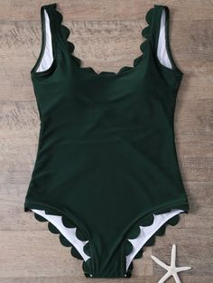 SHARE & Get it FREE   Scalloped U Neck One-Piece SwimwearFor Fashion Lovers only:80,000+ Items • New Arrivals Daily Join Zaful: Get YOUR $50 NOW!