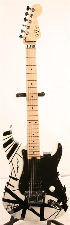 #guitar EVH Eddie Van Halen Striped Series Electric Guitar please retweet