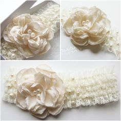 Antique Rose Wedding Garter | Floral Bridal Garter | aubresbridal.com