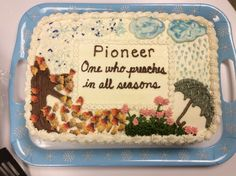 A very dear sister made this cake for our halls pioneer meeting. Beautiful!
