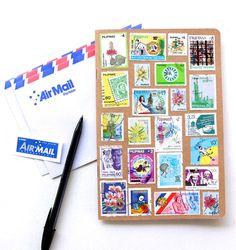 DIY Postage Stamp Notebook