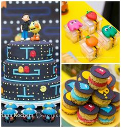Kara's Party Ideas Pac-Man Video Game Birthday Party with regard to Pac Man Party Decorations Xbox Party, Manly Party Decorations, Birthday Party Decorations, Man Birthday, Boy Birthday Parties, Birthday Ideas, 10th Birthday, Festa Do Pac Man, Pac Man Party