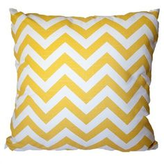 Chevron Cushion Yellow