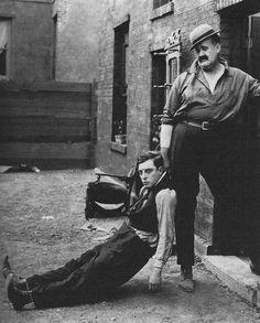 Buster Keaton and Big Joe Roberts in Neighbors, 1920.