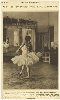 Pavlova rehearses Swan Lake at Ivy House.