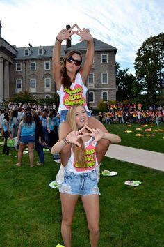 Alpha Chi Omega at Pennsylvania State University #AlphaChiOmega #AChiO #BidDay #neon #sorority #PennState