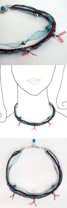 Handmade necklace. Unique piece. Online shop coming soon at Dawanda.  See all the collection: www.caixademistos.com