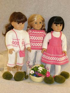 """Ravelry: American Girl 18"""" doll In the Pink pattern by Ase Bence"""