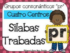 """NO PREP! Spanish Blends """"Pr""""  CCSS NO REQUIERE PREPARACION!  Este paquete incluye cuatro centros o estaciones  para las silabas trabadas o grupos consonnticos  """"pra, pre, pri, pro, pru"""" con hojas de registro para los estudiantes a diferentes niveles.CCSS:    RF.K.2.B RF.K.1.C , RF.2.3.D, RF.2.3.C, RF.2.3.F, RF.1.1 A, RF.1.2.A, RF.1.2.D,  RF.1.3.A, RF. 1.3, RF.1.3.DB, RF.1.3.D,  RF.1.3.G,  RF.1.4.B , RF.K.1.B, RF.K.2.B,RF.K.3.A, LK.2DCentros:1.- Tapetes de silabas trabadas para plastilina5…"""