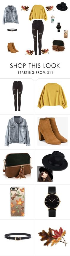 """welcome autumn"" by natalyholly on Polyvore featuring Topshop, Aquazzura, Casetify, CLUSE and Anne Klein"