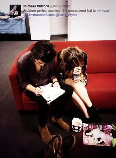 Harry Styles and Gemma Styles