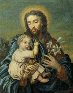 Carlo (or Carlino) Dolci (1616-1686) — Saint Joseph and the Christ Child  (549x700)