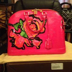 Louis Vuitton Monogram Vernis Roses Collection .