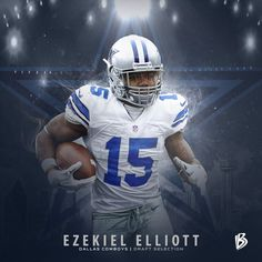 Ezekiel Elliott  Cowboys RB taken in top 20 since Other 2 are Hall of  Famers Emmitt Smith   Tony Dorsett. a3fb9ddc9