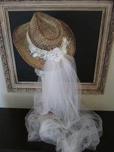 Wedding Veil Bridal Hat Beach Wedding hat and veil-western wedding-cowgirl  hat-Bridal cowgirl hat Wedding photo prop Bachelorette eeb835cb5925