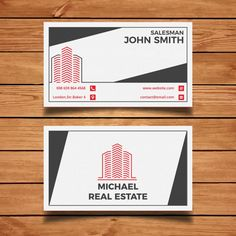 Real estate business card Free Vector | Free Vector #Freepik #freevector #freelogo #freebusiness-card #freebusiness #freeabstract Real Estate Business Cards, Free Business Cards, Social Networks, Social Media, Licence Lea, Vector Photo, Free Logo, Psd Templates, Logo Inspiration