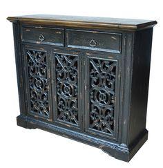 Nottingham 3 Pierced Door Cabinet | Crestview Collection | Home Gallery Stores