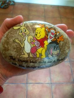 Customer order hand painted stone reserved for Vicky