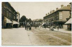 LEWISHAM-Burnt-Ash-Road-LEE-Shops-IDRIS-MINERAL-WATERS-Early-Car-LONDON-SE12-c.1910.
