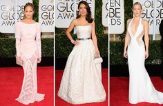 Golden Globes 2015 trend: white dresses graced the red carpet!