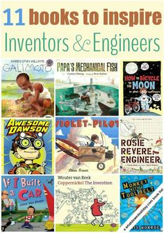 Books for Kids Who Like to Tinker and Invent STEM books. Picture books about inventions. Is your child a budding engineer or inventor? Picture books about inventions. Is your child a budding engineer or inventor? Great Books, My Books, Amazing Books, Teen Books, Mentor Texts, Teaching Science, Science Books, Library Science, Science Crafts