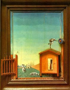 Two Children are pursed by a Nightingale by Max Ernst
