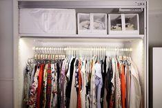 6 Closet Organization Tips I Learned Straight From an Ikea Pro Dressing Room Closet, Dressing Rooms, Ikea Pax Wardrobe, Closet Vanity, Overhead Storage, Decoration Originale, Closet Organization, Getting Organized, Storage Spaces