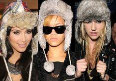 Weird celeb winter hats.