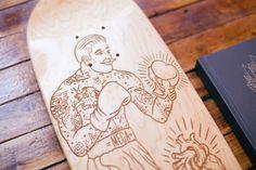 MEGAMUNDEN skateboard deck  #tattoos #boxe #old school