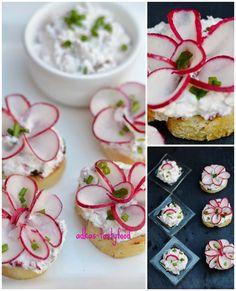 Reďkovková nátierka Food Decoration, Caprese Salad, Sushi, Bakery, Food And Drink, Appetizers, Vegetables, Ethnic Recipes, Party