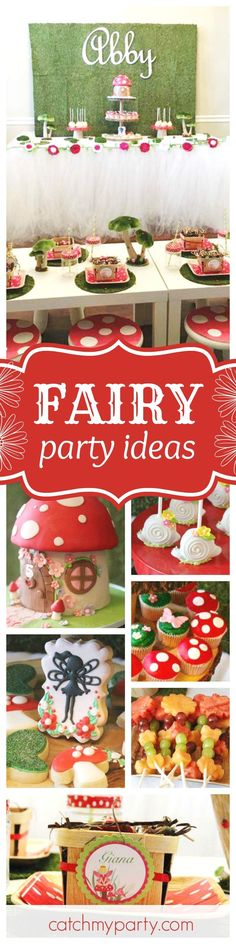 Don't miss this gorgeous Fairy Bug Woodland birthday party. The fairy fruit wands & snail cake pops are adorable!! See more party ideas and share yours at http://CatchMyParty.com