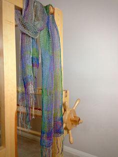 Linen lace weave scarves. Karen Isenhower