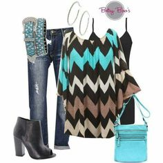 Never Gonna Be Alone Chevron Printed Tunic With Bell Sleeves ~ Aqua ~ Sizes - One Faith Boutique Mom Outfits, Pretty Outfits, Stylish Outfits, Spring Outfits, Cute Outfits, Stylish Clothes, Pretty Clothes, New Fashion, Autumn Fashion
