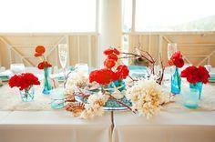 #MartesDeBodas: Decoración de boda en color turquesa - Foto Robyn Van Dyke