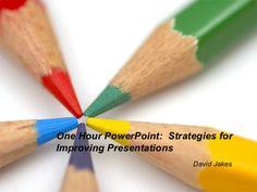 Strategies for improving presentations