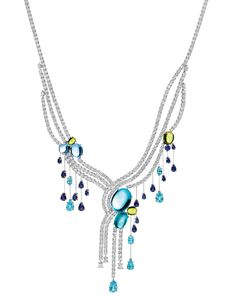 Water Collection Cabachon Fall Necklace Harry Winston
