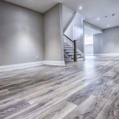 Basement Living Rooms, Basement House, Living Room Flooring, Basement Wall Colors, Gray Basement, Flooring For Basement, Flooring Ideas, Small Basement Remodel, Basement Remodeling