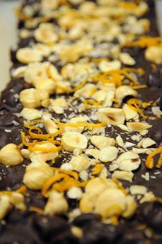 Chocolate Orange Hazelnut Bark