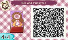 """miguelcrossing: """" I love Bee and Puppycat, so I made a faceboard in Animal Crossing :3 """""""