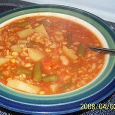 Sopa de verduras rápida y fácil @ allrecipes.com.mx