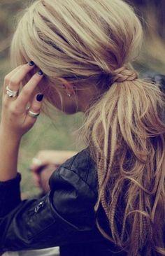 cute ponytail...