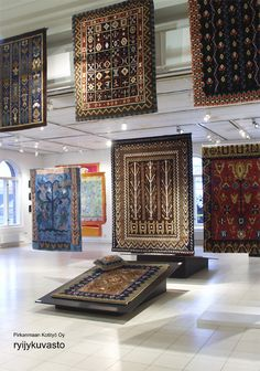 Rya rugs, once used for walls and as bedspreads to keep the cold outside