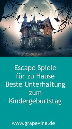 Escape Game: Escape from the ghost villa party game for Halloween. - Escape Game: Escape from the ghost villa party game for Halloween. Halloween Tipps, Halloween Party Games, Kids Party Games, Games For Kids, Halloween Fun, Diy For Kids, Games Design, School Parties, Geocaching